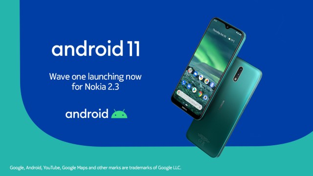 Android 11 update for the Nokia 2.3