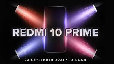 Redmi 10 prime release date in India