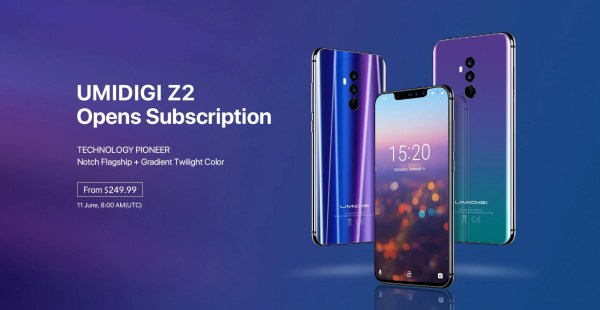 UMIDIGI Z2 starts its presale from $249.99, Z2 Pro and Q1 ...