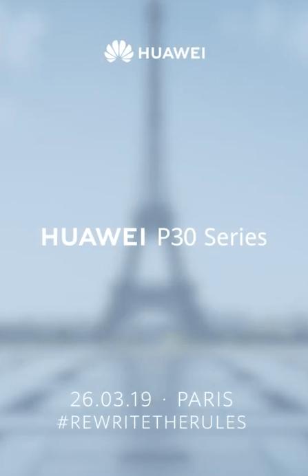 Huawei P30 start date