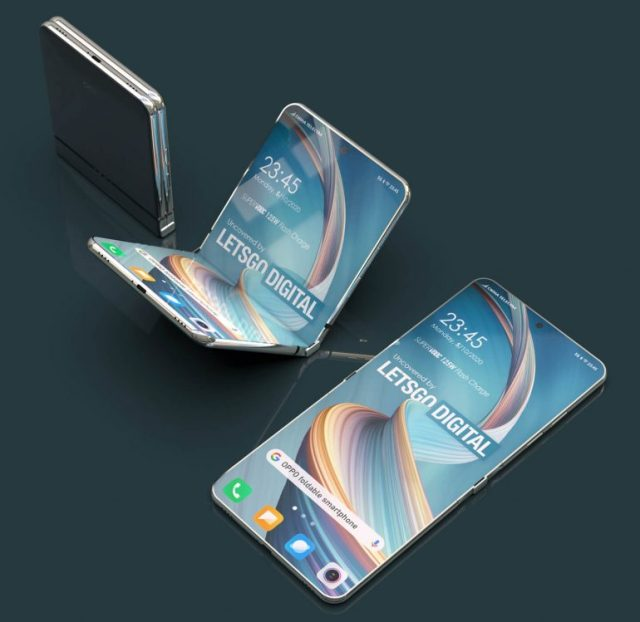 OPPO patents its own version of the Galaxy Z Flip but it lacks a cover  screen - Gizmochina