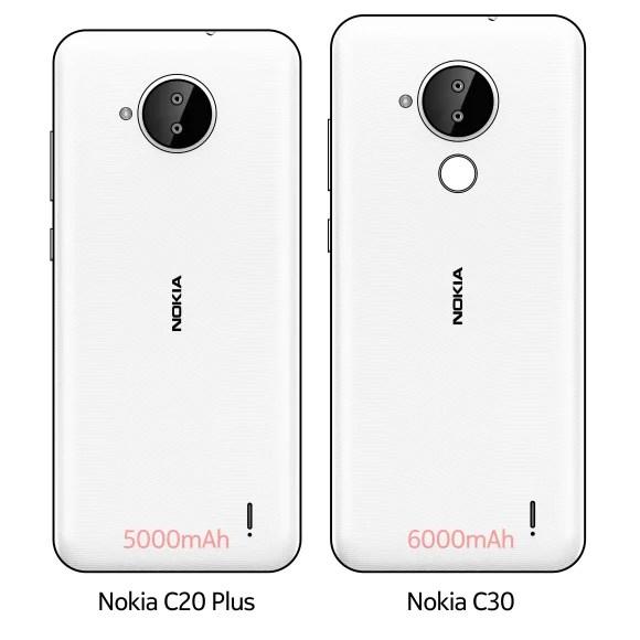 Nokia C20 Plus and Nokia C30