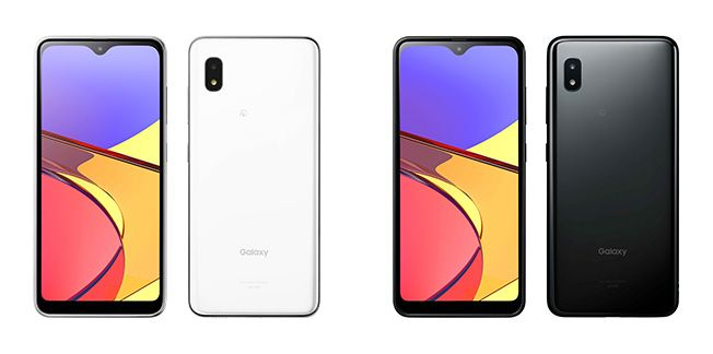 Galaxy A21 Simple SCV49 Simple White and Black