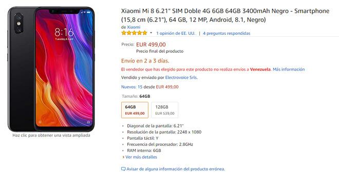 Xiaomi Mi 8 Amazon