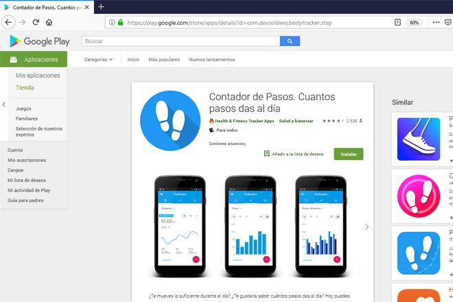 App para contar tus pasos durante el día