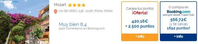 Los puntos Travel Club se pueden canjear por ofertas en hoteles y vuelos