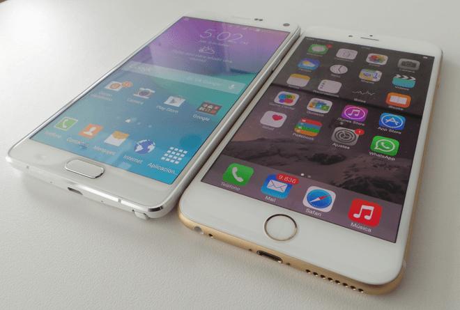 SamsungGalaxyNote4_iPhone6Plus_Frente