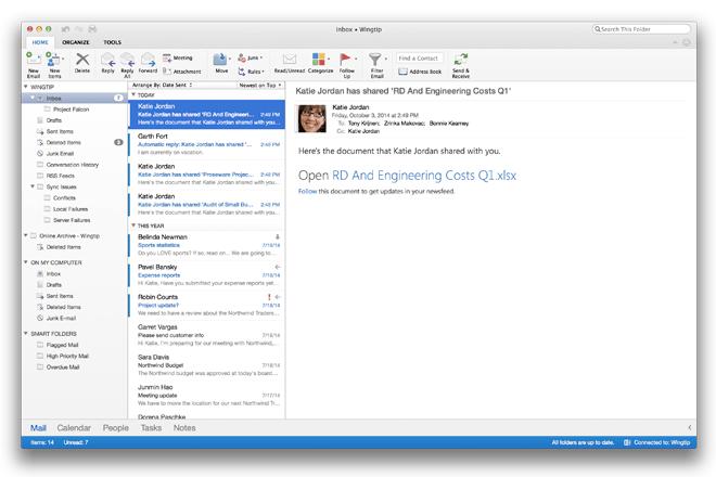 Microsoft Outlook para Mac ya disponible para Office 365