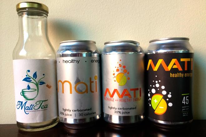 Evolución del envase de Mati (de izquierda a derecha: Nov. 2011, Ago. 2013, Oct. 2013 y May. 2014)