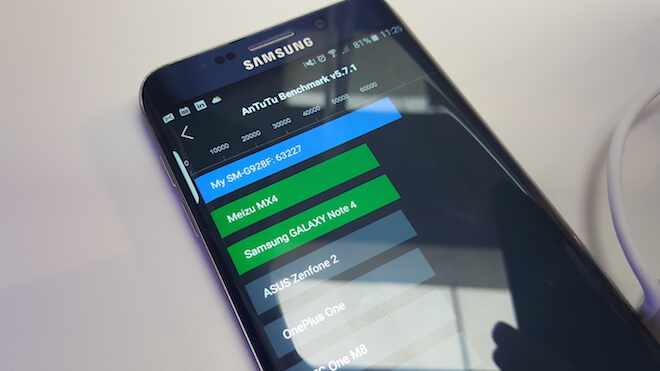 Resultado prueba antutu benchmark Galaxy S6 Edge+