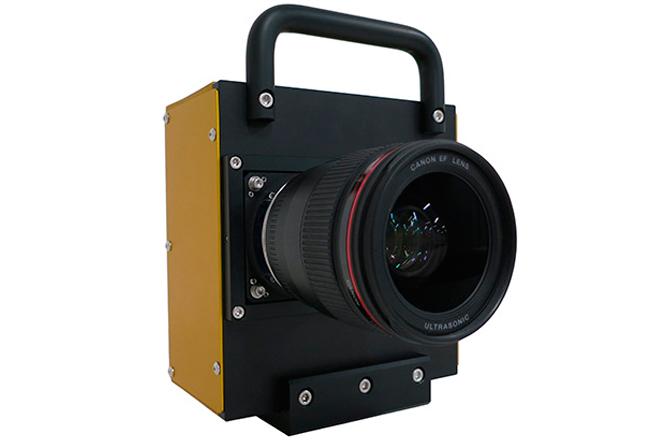 Prototipo de cámara equipada con el sensor CMOS desarrollado por Canon.