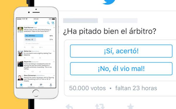 Crear encuestas en Twitter es una realidad que toca la puerta