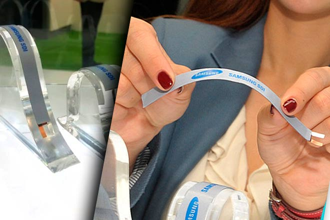 Así son las baterías flexibles de Samsung (Stripe y Band)
