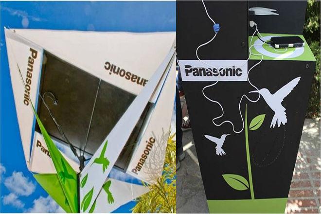 Cargador Solar Urbano de Panasonic.-