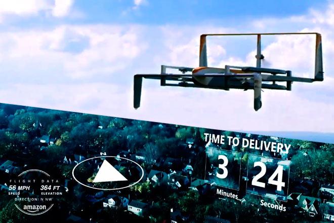 Amazon revela cómo funciona su programa Prime Air (entrega de paquetes con drones)