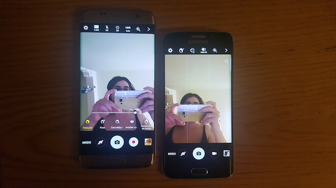 Galaxy S6 Edge Vs. Galaxy S7 Edge camara frontal