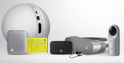 LG Rolling Bot, LG 360 VR y LG 360 Cam