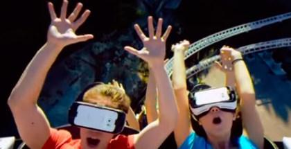 Montaña rusa de realidad virtual de Samsung