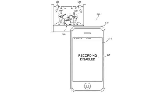 Patente de Apple para bloquear grabaciones de conciertos