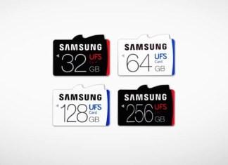 Tarjetas de memoria Samsung UFS
