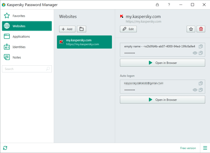 kaspersky password manager contraseñas gestion