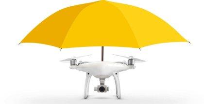 Dron con paraguas incorporado