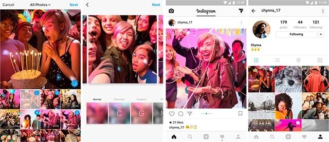 nueva función de publicar varias fotos y videos en Instagram en un solo post?