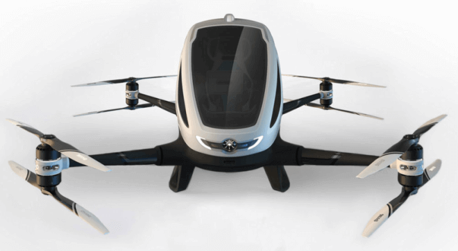 Los drones taxi serán una alternativa para evitar el tráfico terrestre en Dubai