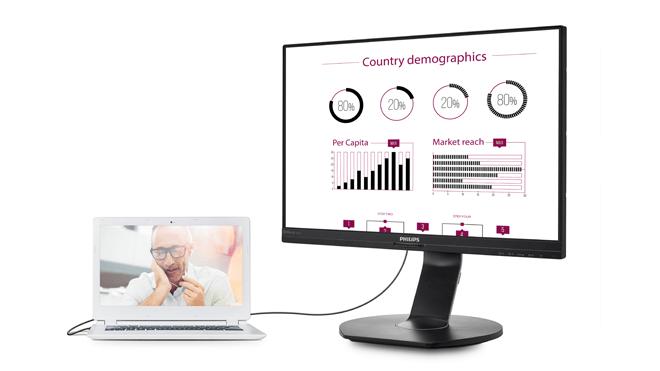Monitor Philips USB-docking