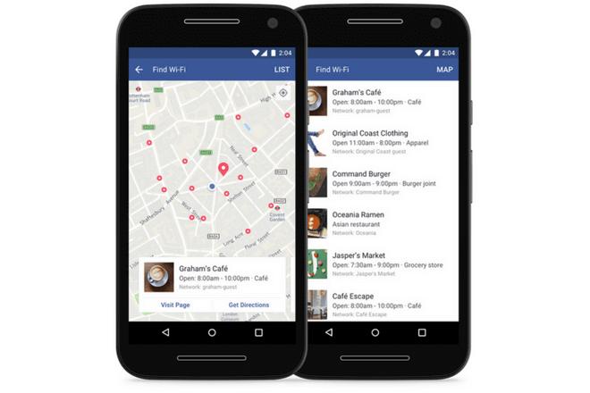 Facebook permite buscar Wifi gratis