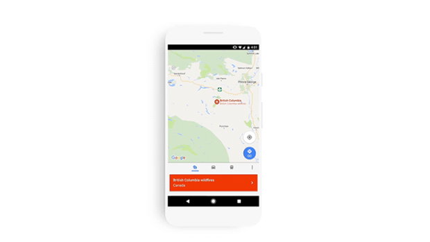 Alerta SOS de Google Maps
