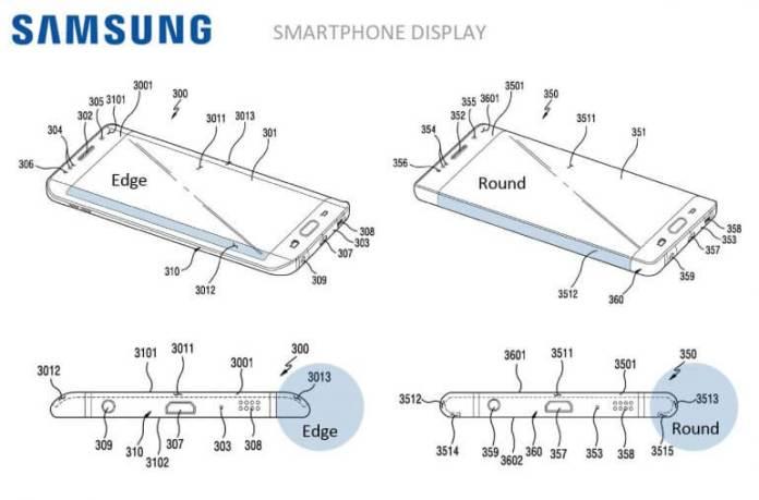 patente pantalla totalmente curva