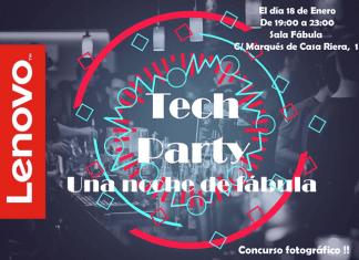 Lenovo te invita a celebrar la gran fiesta de la tecnología en Madrid: Tech Party