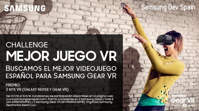 Samsung busca premiar al mejor juego para sus Gear VR