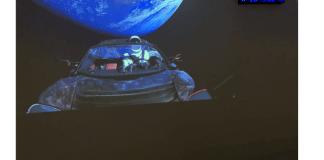 Esta web te mantiene informado sobre la trayectoria del Tesla Roadster lanzado al espacio