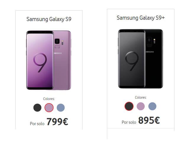 oferta galaxy s9 vodafone