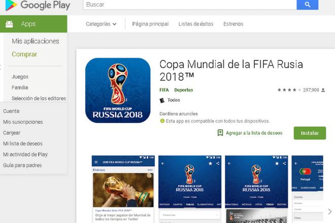 Sigue los partidos y resultados del Mundial 2018 desde tu móvil con estas apps
