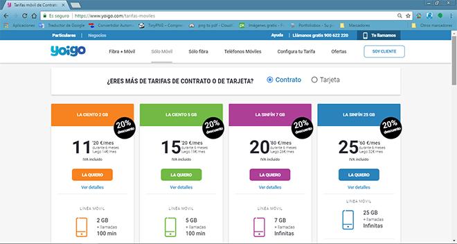 Mejores tarifas móviles con datos y llamadas ilimitadas (Junio 2018)