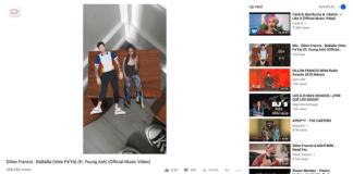 foto de captura de pantalla página de Youtube con imagen de video vertical