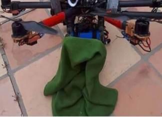foto de dron con granadas