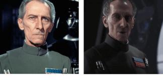 comparativa de fotos de Peter Cushing