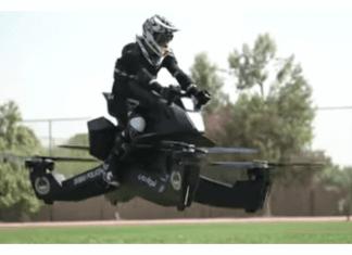 imagen de Policía de Dubai entrena con una moto voladora