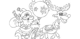 Webs para imprimir dibujos e navidad para colorear