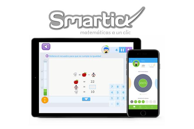 Smartick, que se dirige a niños de 4 a 14 años y adapta los ejercicios al nivel de cada alumno gracias a un avanzado sistema de inteligencia artificial