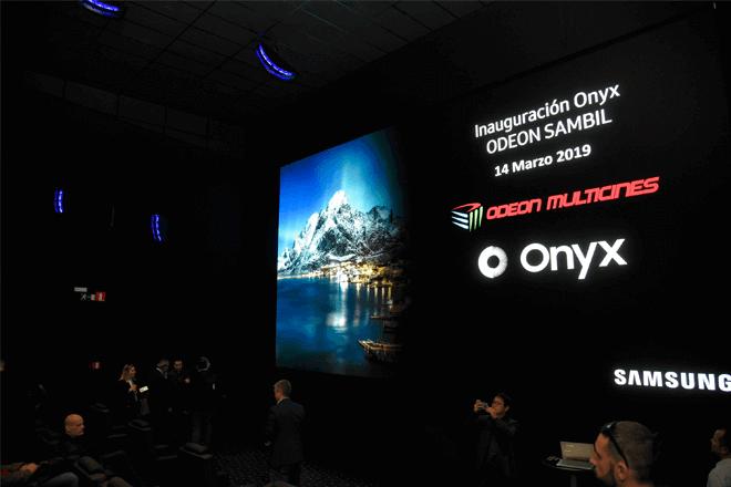Samsung ha presentado en Madrid el primer cine LED Onyx España, concretamente, en las salas Odeon Sambil de Leganés.