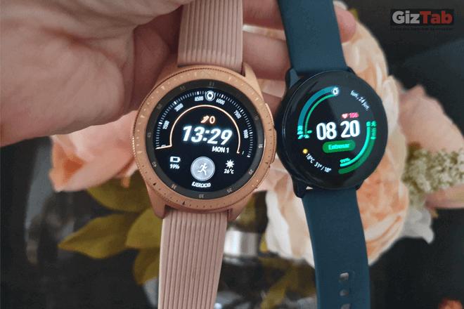 Galaxy Watch Active y Galaxy Watch lado a lado