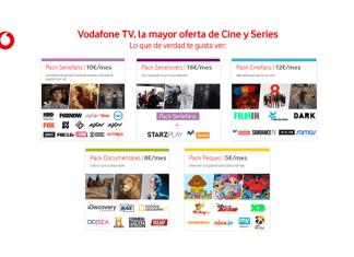 La nueva oferta de Vodafone TV organiza sus contenidos por distintos paquetes temáticos -a partir de 5€- para que los clientes se suscriban solo a aquellos contenidos que realmente les interesen