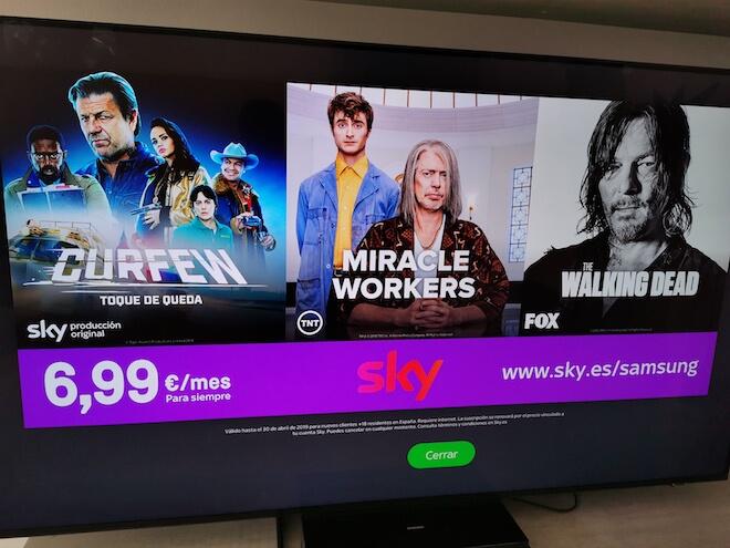 SKY TV aplicacion en Smart TV de Samsung