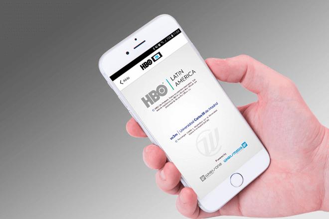A través de la App HBO IN, creada y desarrollada por la empresa madrileña WhatsCine