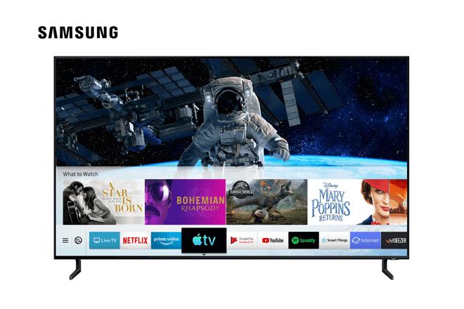 Las nuevas aplicaciones Apple TV y AirPlay 2, están disponibles en los televisores Samsung Smart TV de 2018 y 2019